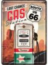 Blechpostkarte Route 66 Gas Station