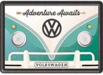 Blechpostkarte VW Adventure Awaits
