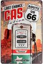 Blechschild 20X30 Route 66 Gas Station