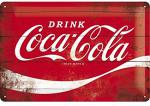 Blechschild 20X30 Coca Cola Logo Red Wave