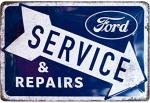 Blechschild 20X30 Ford Service & Repairs