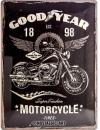 Blechschild 30X40 Goodyear Motorcycle