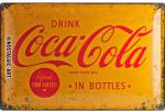 Blechschild 40X60 Coca Cola Yellow Logo