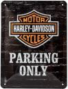 Blechschild 15X20 Harley Davidson Parking Only