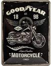 Blechschild 15X20 Goodyear Motorcycle